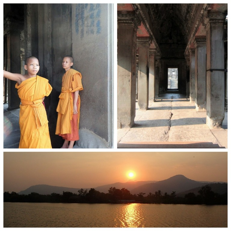 Collage monks Cambodia